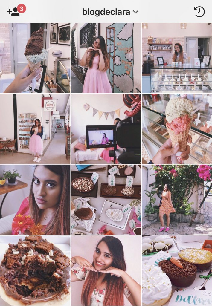 feed do instagram em rosa feed rosa blog declara